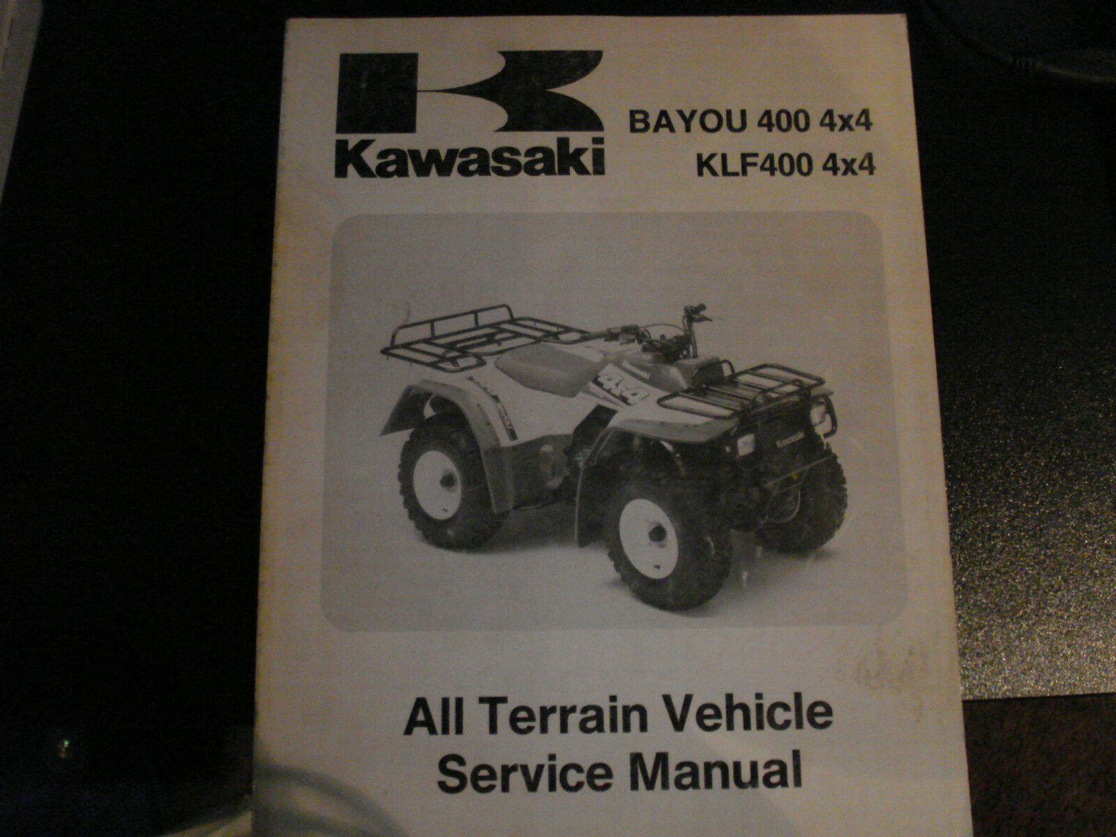 Kawasaki 93-95 BAYOU 400 4X4 KLF400 4X4 All Terrain Vehicle Service Manual  1 of 1Only 1 available See More