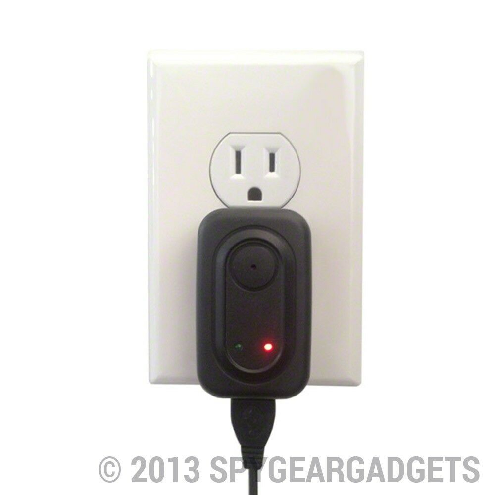 Mini AC Power Adapter Hidden Spy Camera with Motion-Activated Recording