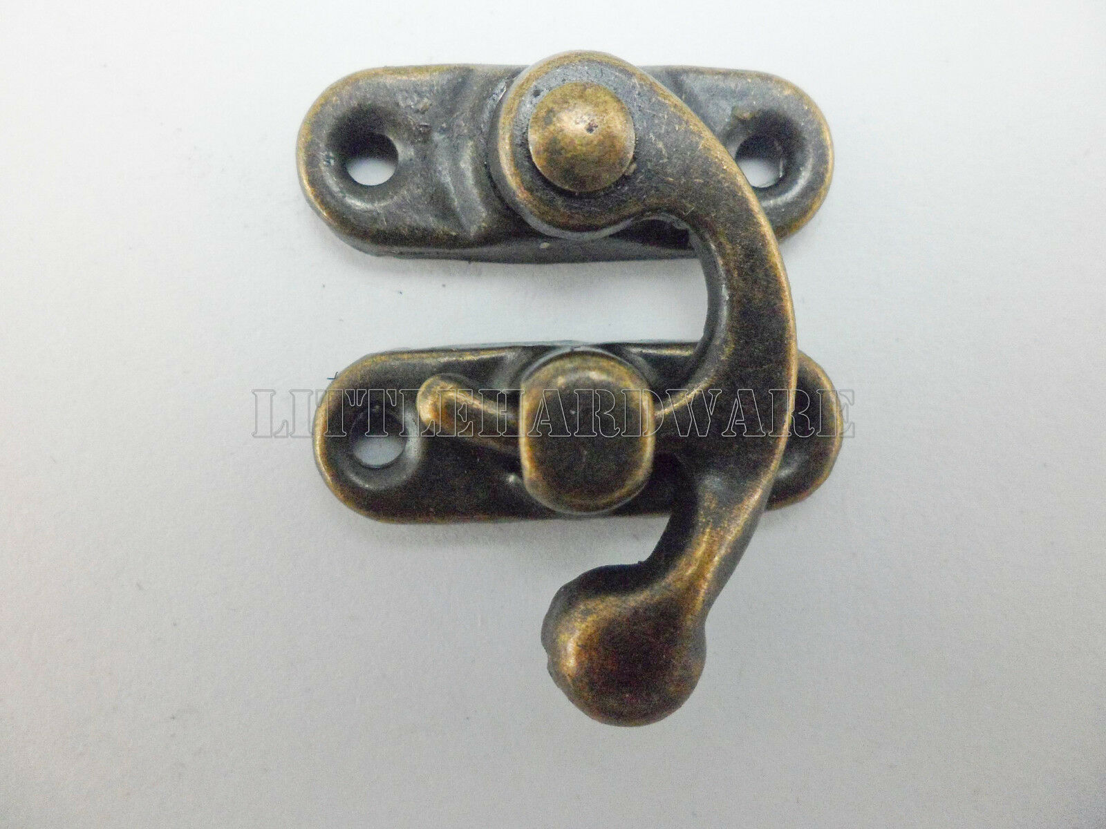 10pcs 29mmx33mm Chinese vintage buckle tin trunk latch hook lock gift box buckle