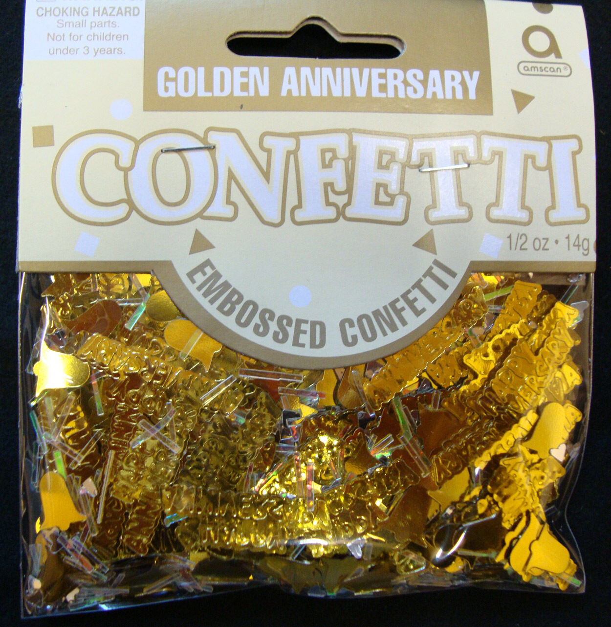 Golden Wedding Table Confetti 50th Anniversary Sprinkles Table
