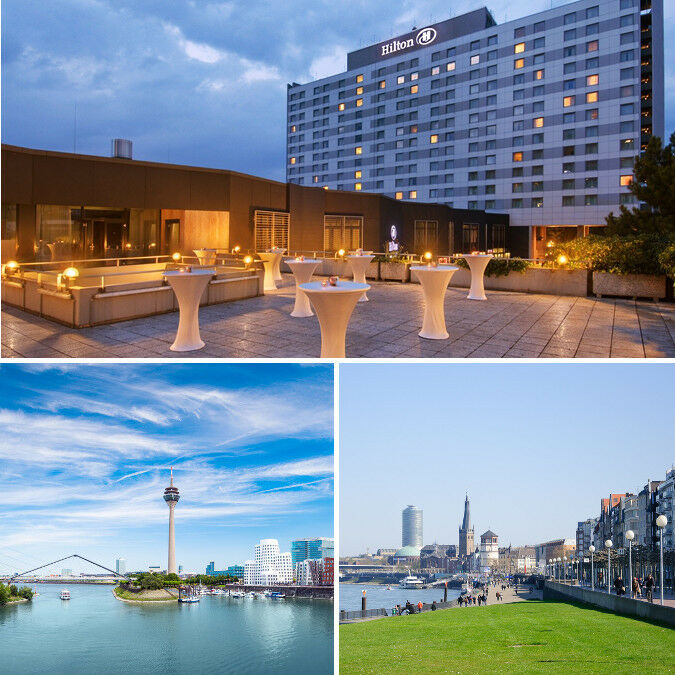 Hilton hotel d sseldorf exklusive st dtereise f r 2 for Exklusive hotels
