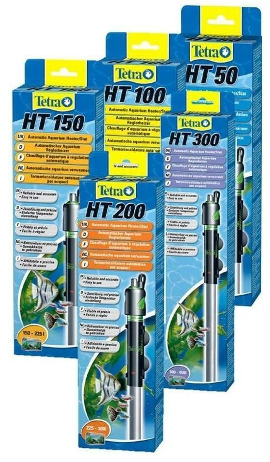 TetraTec HT 50w 100w 150w 200w 300w Tropical Fish Tank Aquarium Heater Tetra Tec