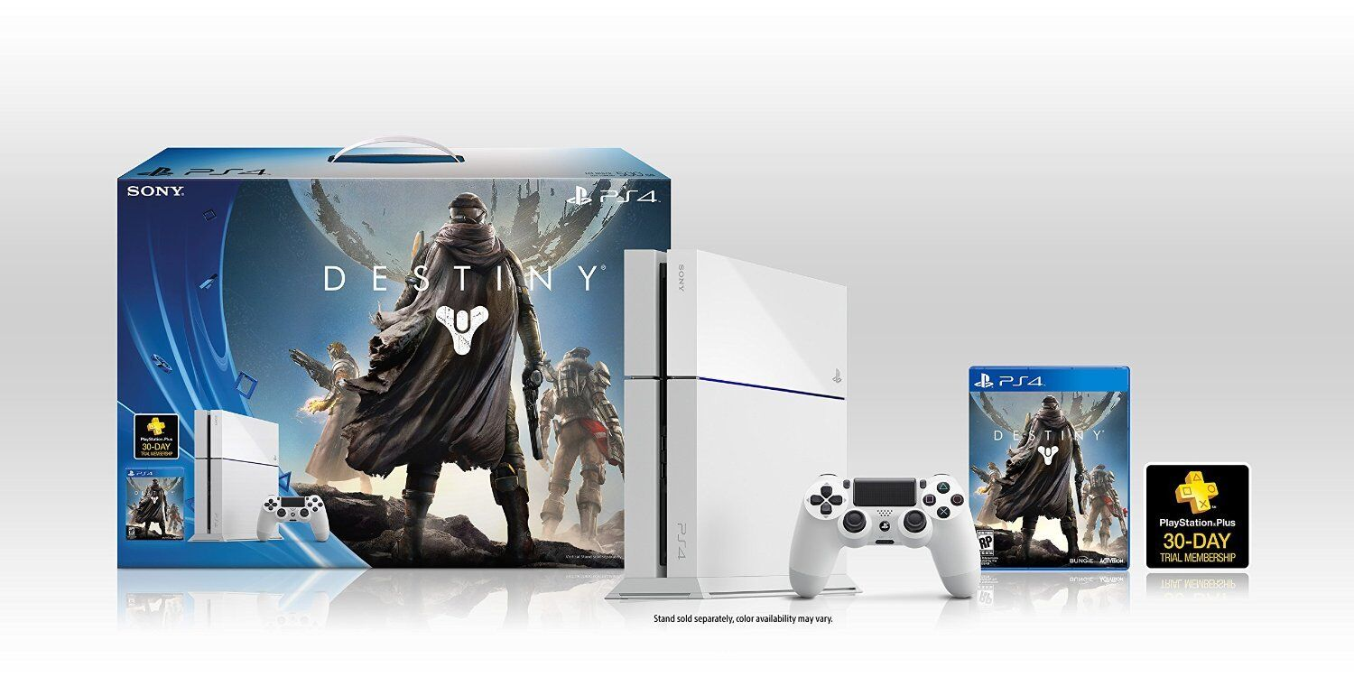 Destiny Limited Edition White Ps4 500gb Console Bundle Pal Aus New Gold 1 Of See More