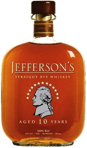 Jefferson's 10 year old Straight Rye Whiskey 750ml