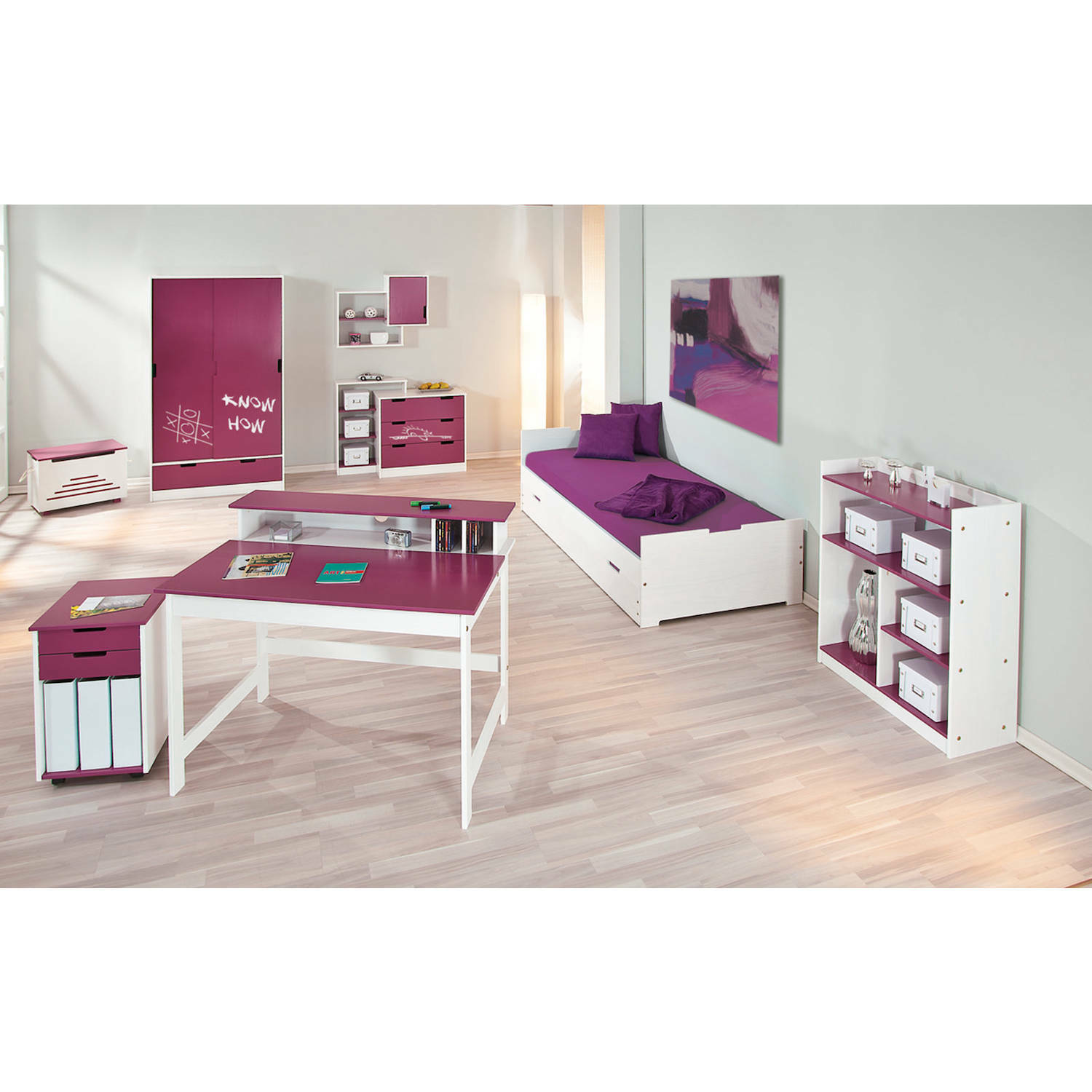 kleiderschrank kinderzimmer kinderschrank schrank kinder 2 t rig schublade lila eur 203 95. Black Bedroom Furniture Sets. Home Design Ideas