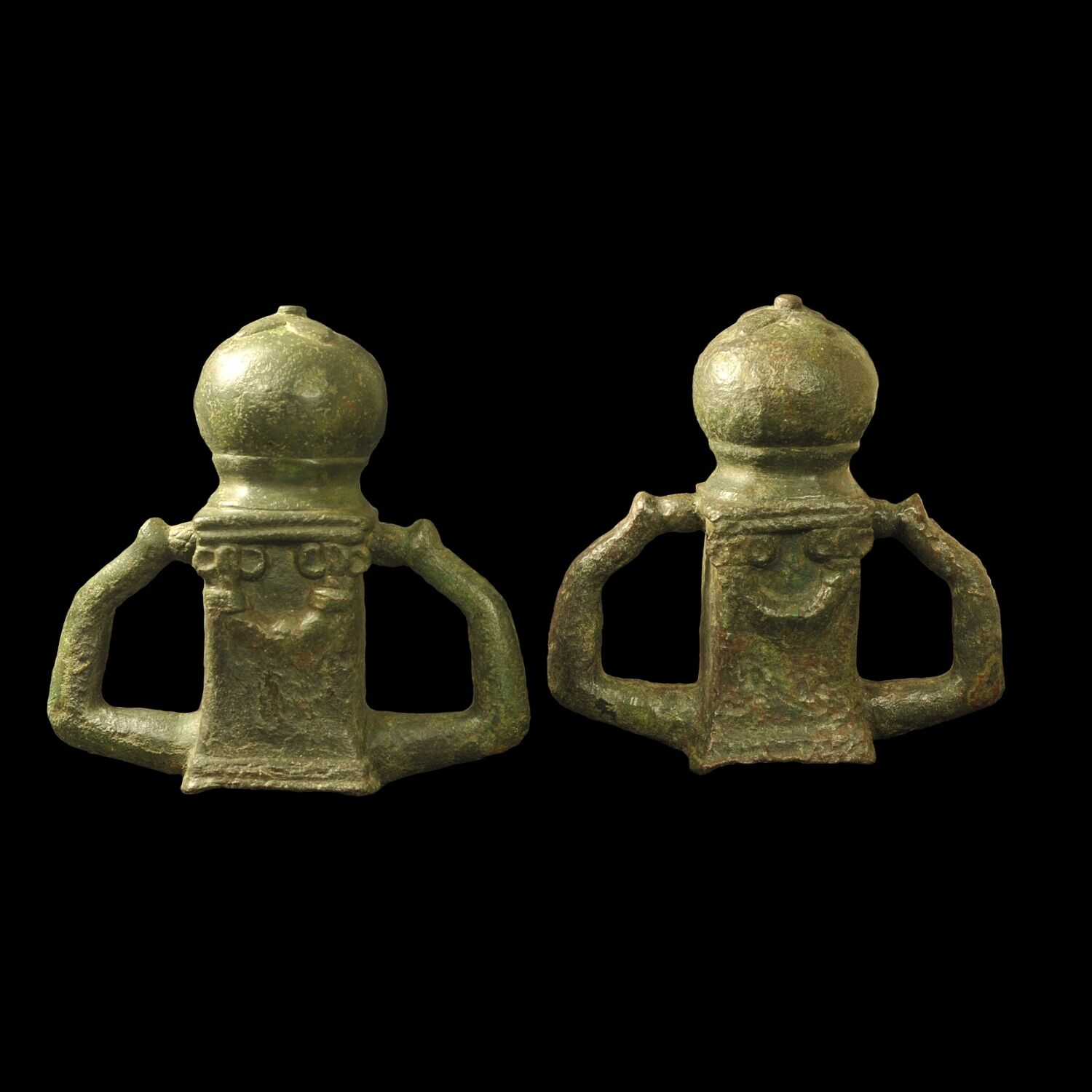 Aphrodite- A Pair Of Ancient Roman Bronze Chariot Fittings