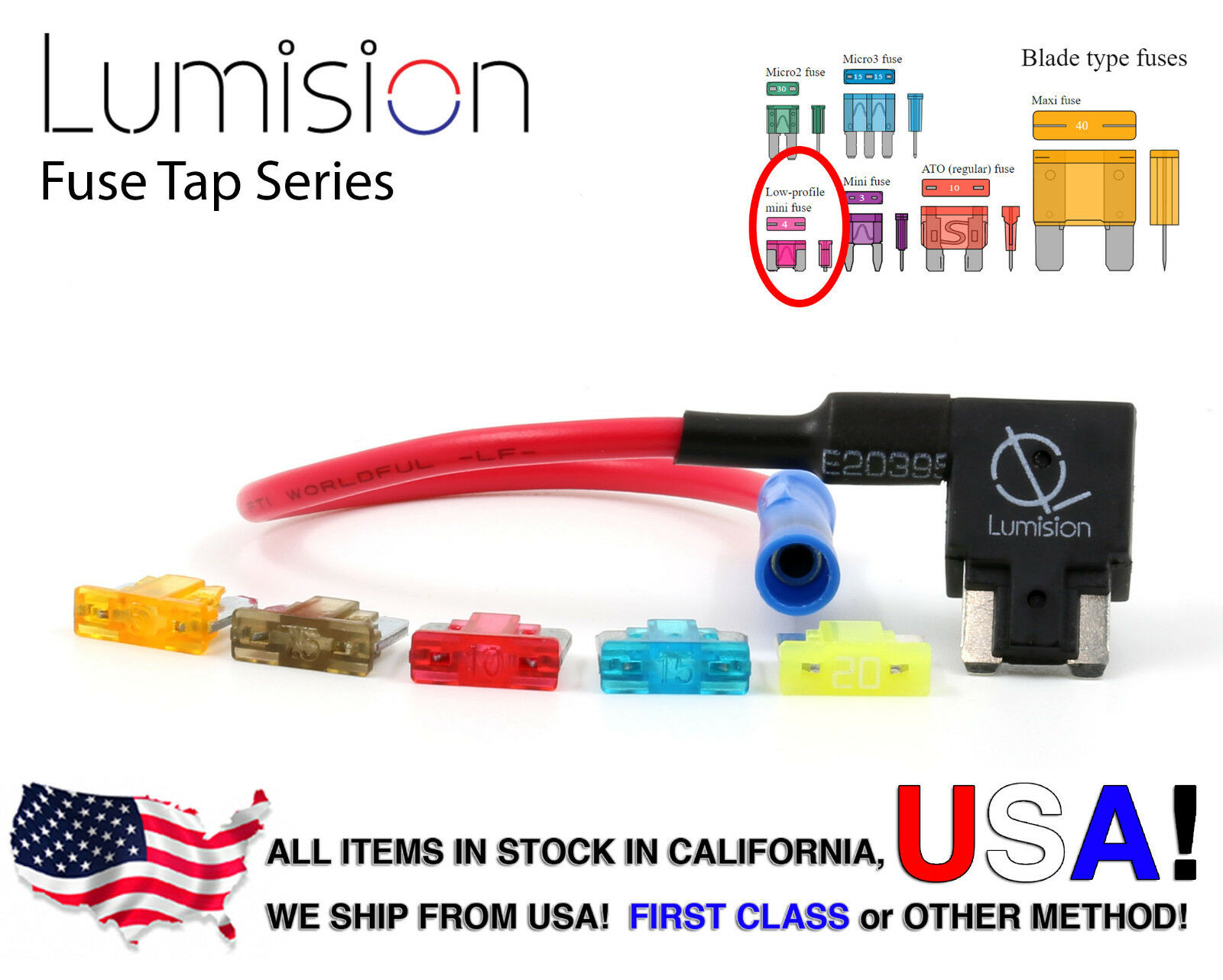 Add A Circuit Blade Style Atm Low Profile Mini Fuse Holder Tap Apm 12v 1 X Free Of 1free Shipping