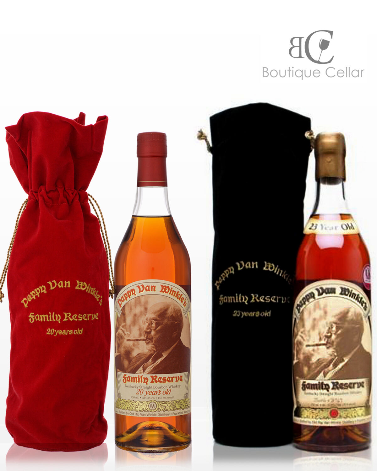 Pappy Van Winkle 20 + 23 Year Old Family Reserve Bourbon Whiskey 700ml SIGNED