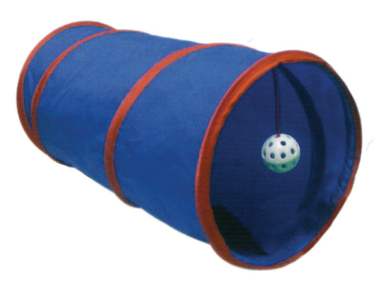 Cat Kitten Play Tunnel with Ball Furniture Activity Toy Assorted Colours 55cm