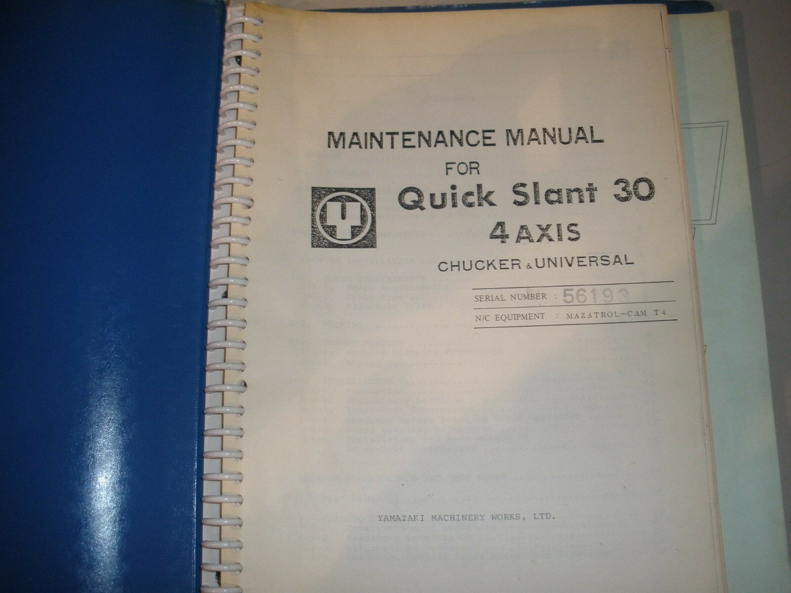Mazak QS30 CNC Lathe Maintenance Manual 1 of 1Only 1 available ...