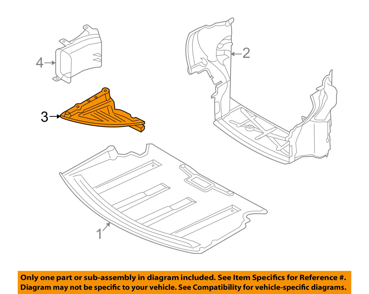 BMW OEM 06-10 650i Splash Shield-Under Engine Side Cover Left 51717203951 1  of 2Only 1 available BMW ...