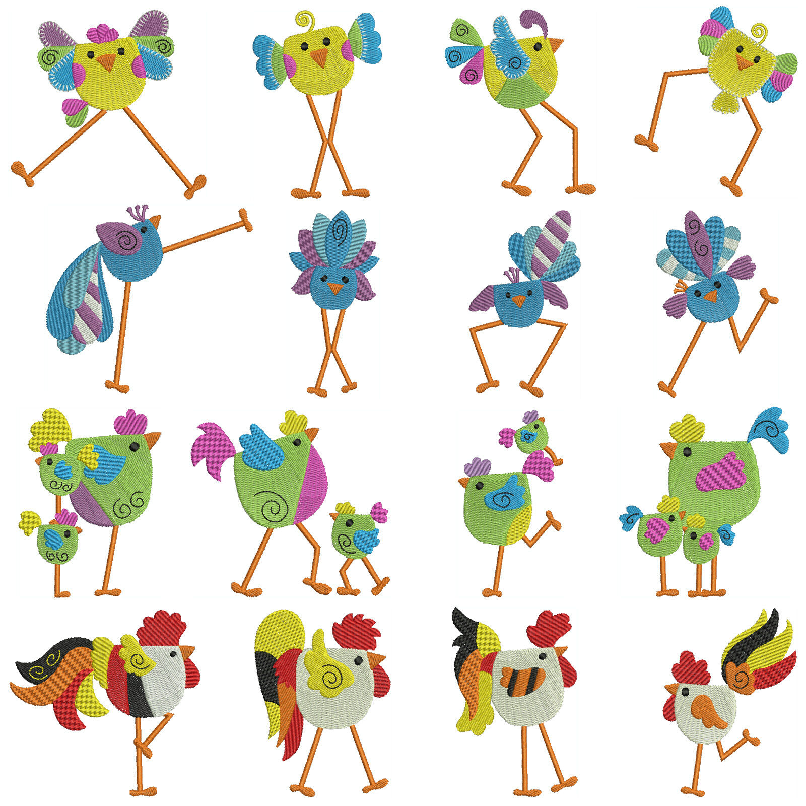 Tweety machine embroidery patterns designs