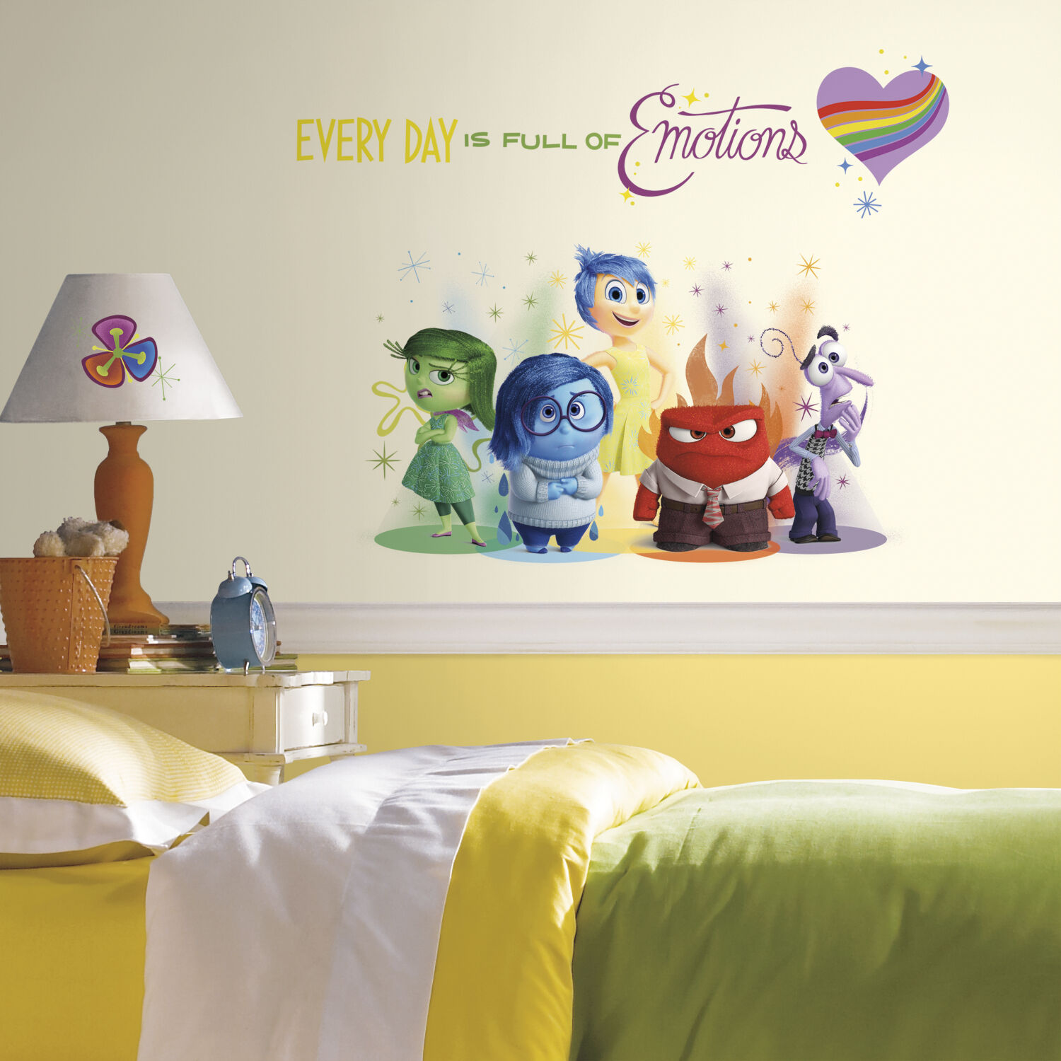NEW INSIDE OUT WALL DECALS BiG Disney Pixar Stickers Bedroom Toy ...