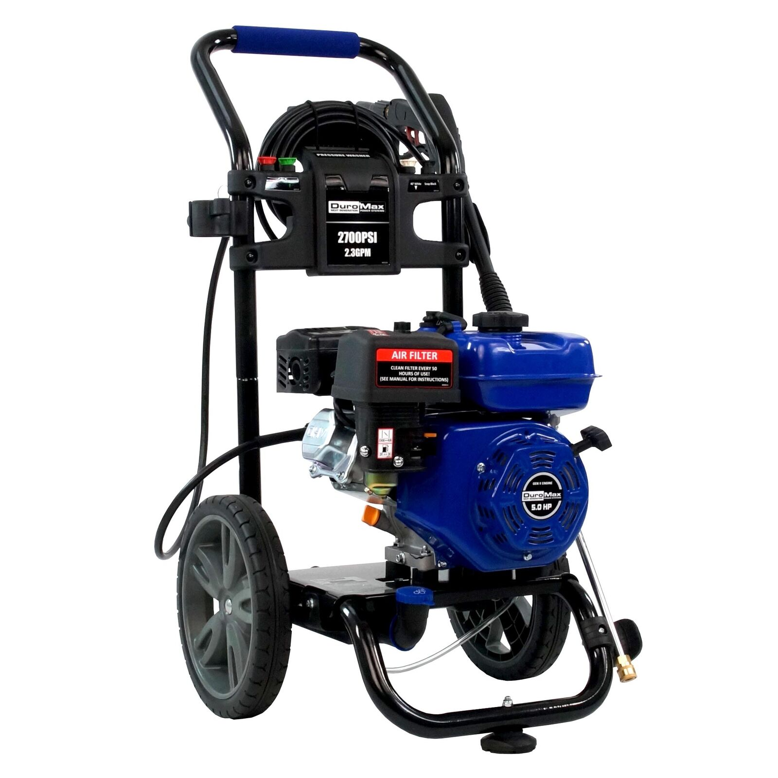 DuroMax XP2700PWS 2,700 PSI 2.3 GPM Gas Powered Cold Water Power Pressure  Washer 1 of 8FREE Shipping See More