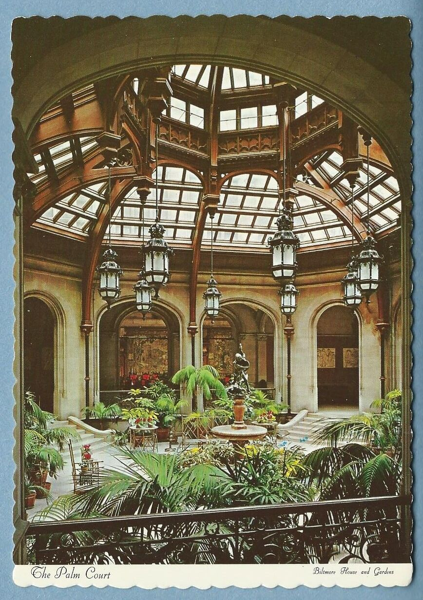 POSTCARD THE PALM Court, Biltmore House and Garden - $8.00 | PicClick