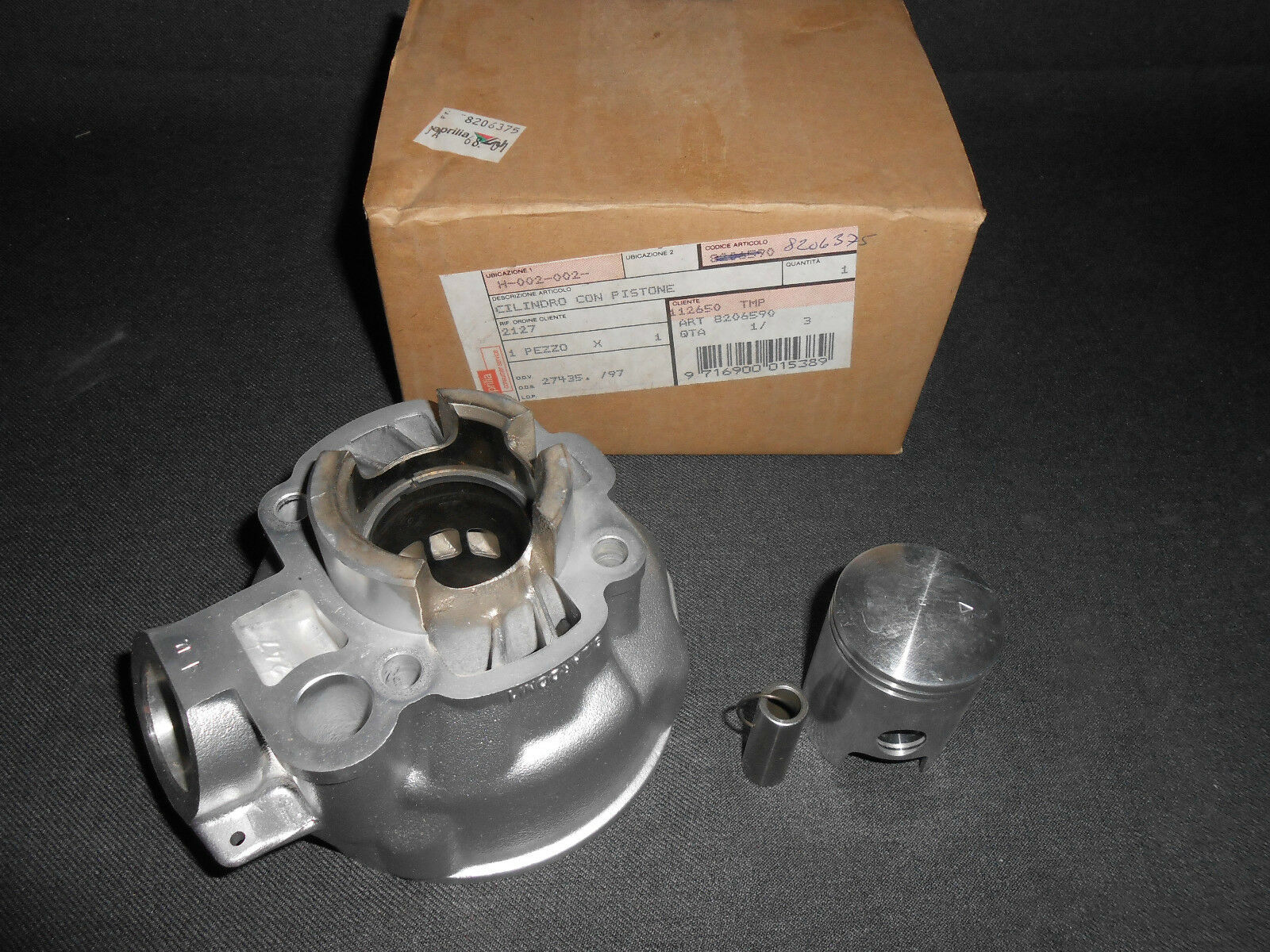 New Genuine Aprilia Rs50 Rx50 Mx50 Classic Cyl With Piston D403 Rx 50 Wiring Ap8206375 Gb 1 Of 3only Available