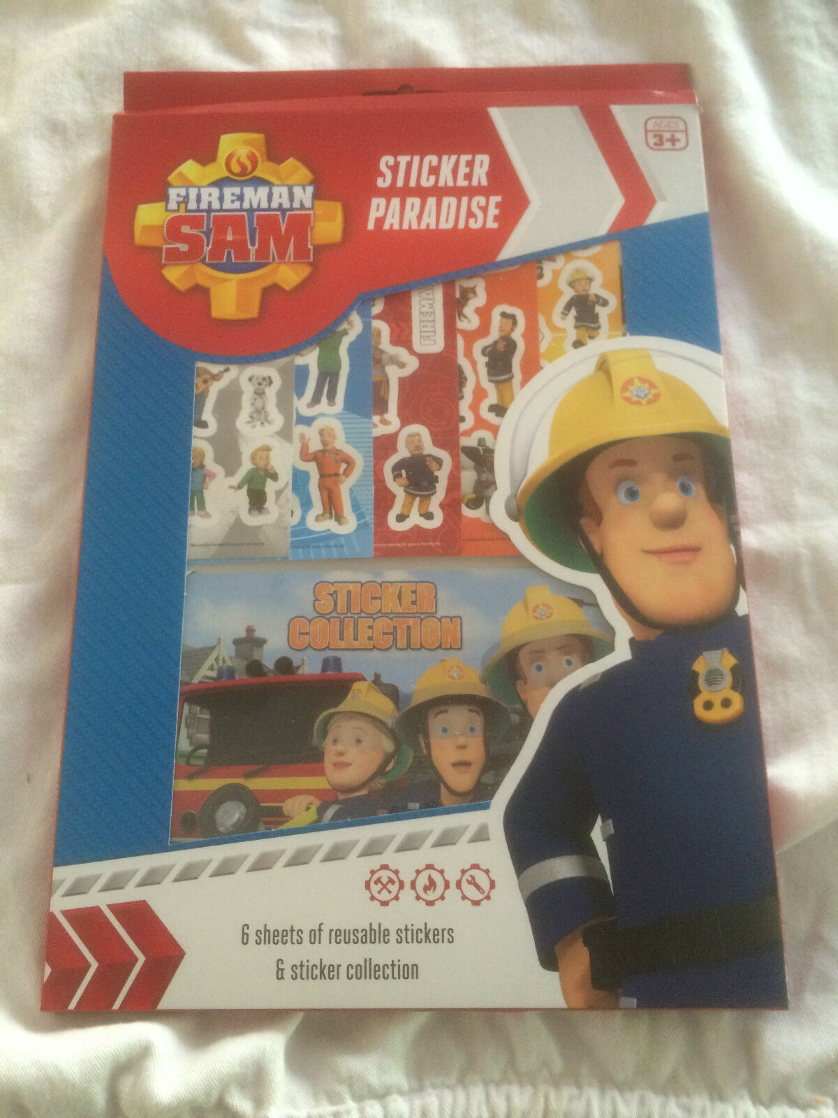 fireman sam sticker paradise 6 sheets of resuable stickers