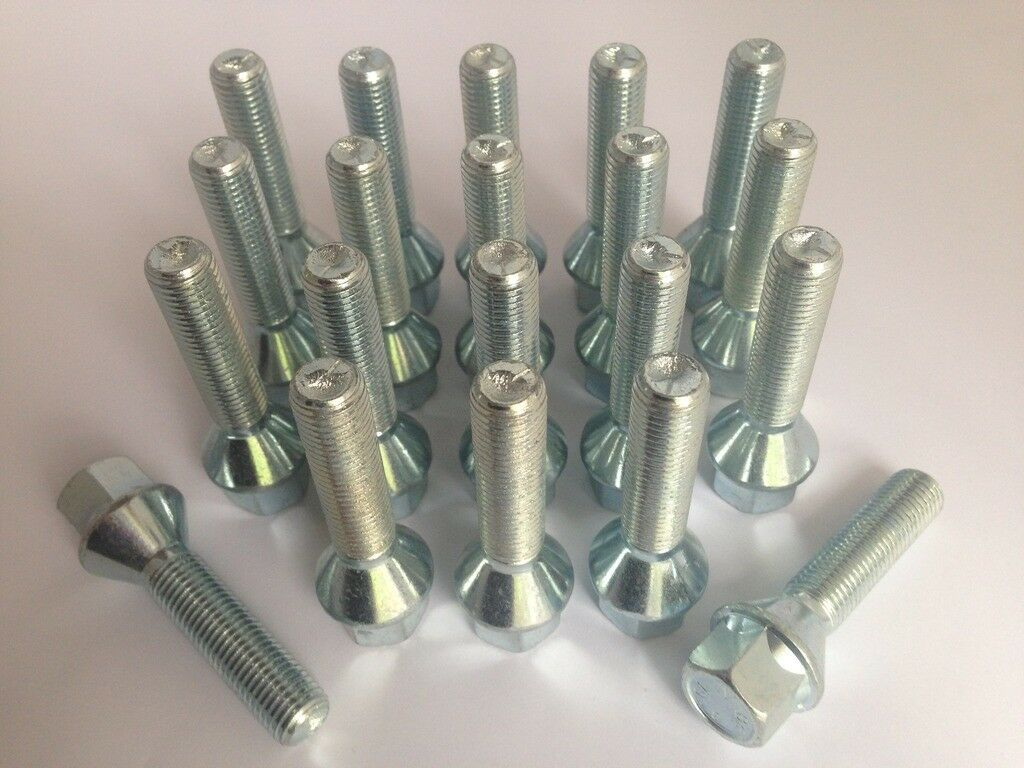 10 x Extended Alloy Wheel Bolts M14 x 1.5 55mm Long 17mm Hex