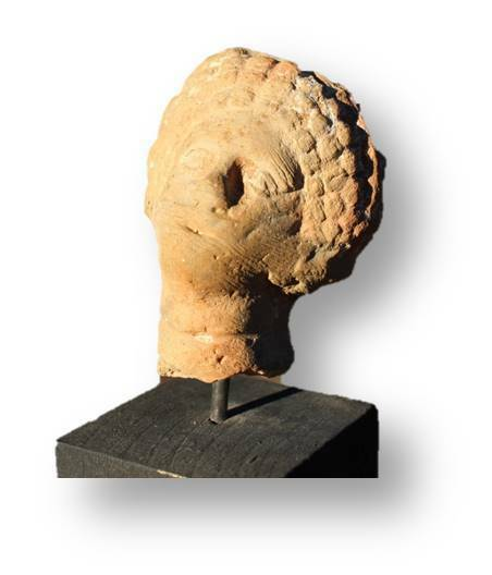 Authentic Ancient Artifact - Greek woman head/bust in terracotta, 2100 years old