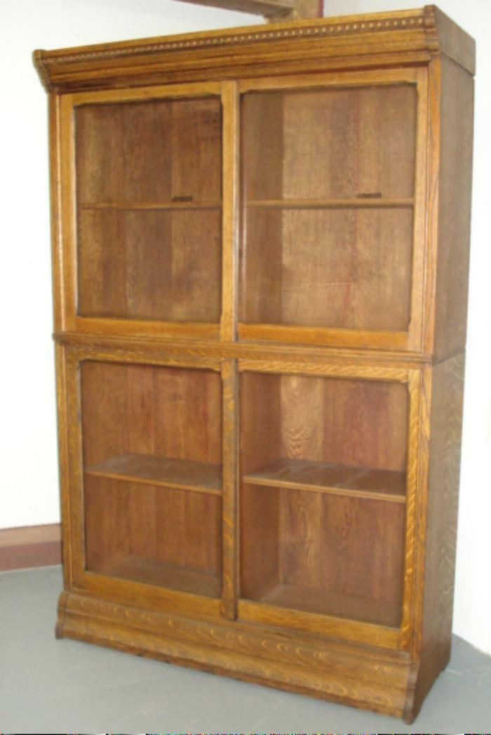 Antique Barrister Bookcase Stack Lawyers Bookcase Misson Oak