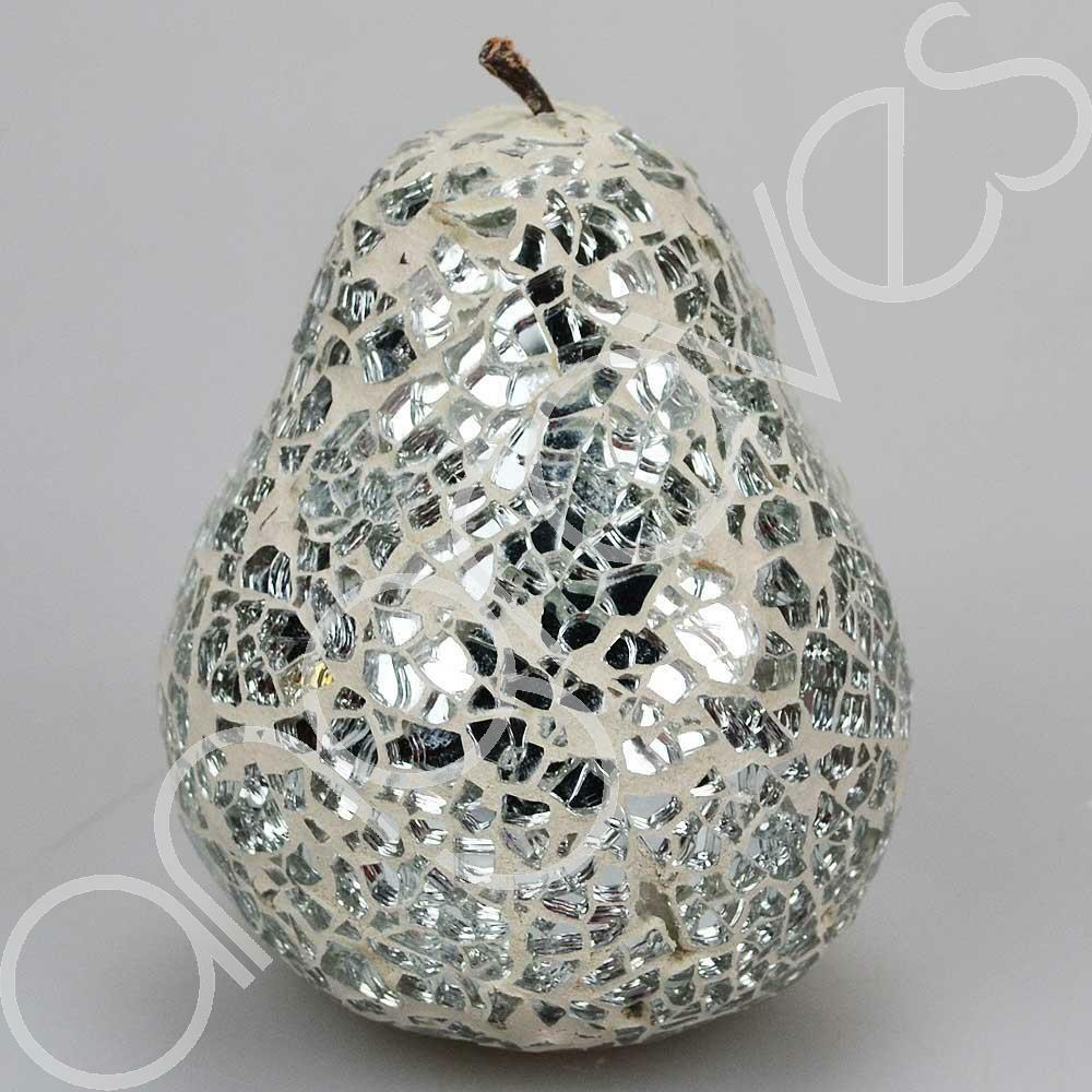 Mosaic glass pear silver home decorative decor fruit Pear home decor