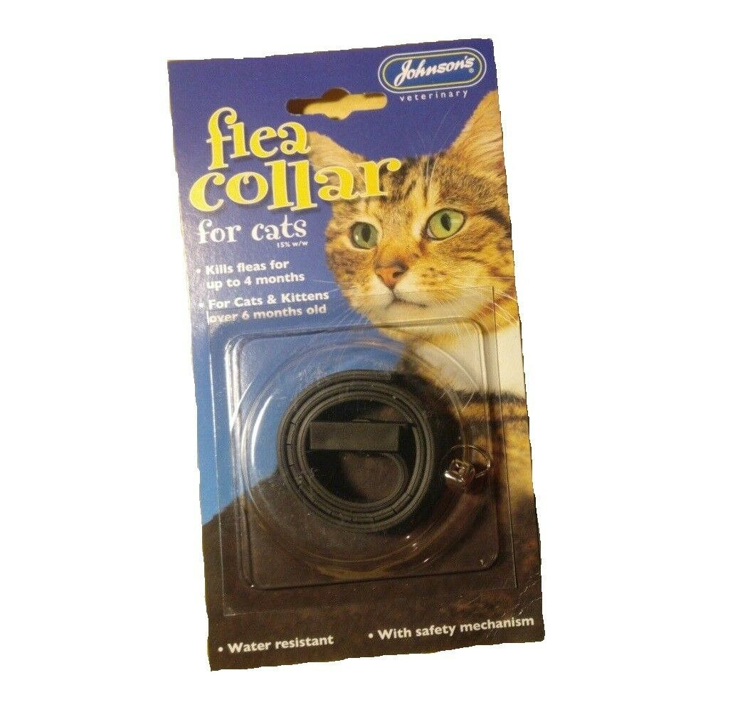 JOHNSONS WATERPROOF CAT FLEA GUARD COLLAR posted today if paid before 1pm