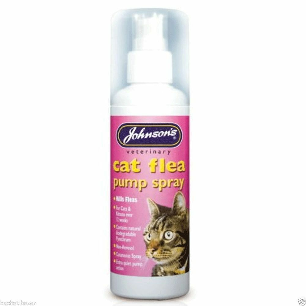 Johnsons Pet Care Vet Cat Flea Pump Spray 100ml posted today if paid before 1pm