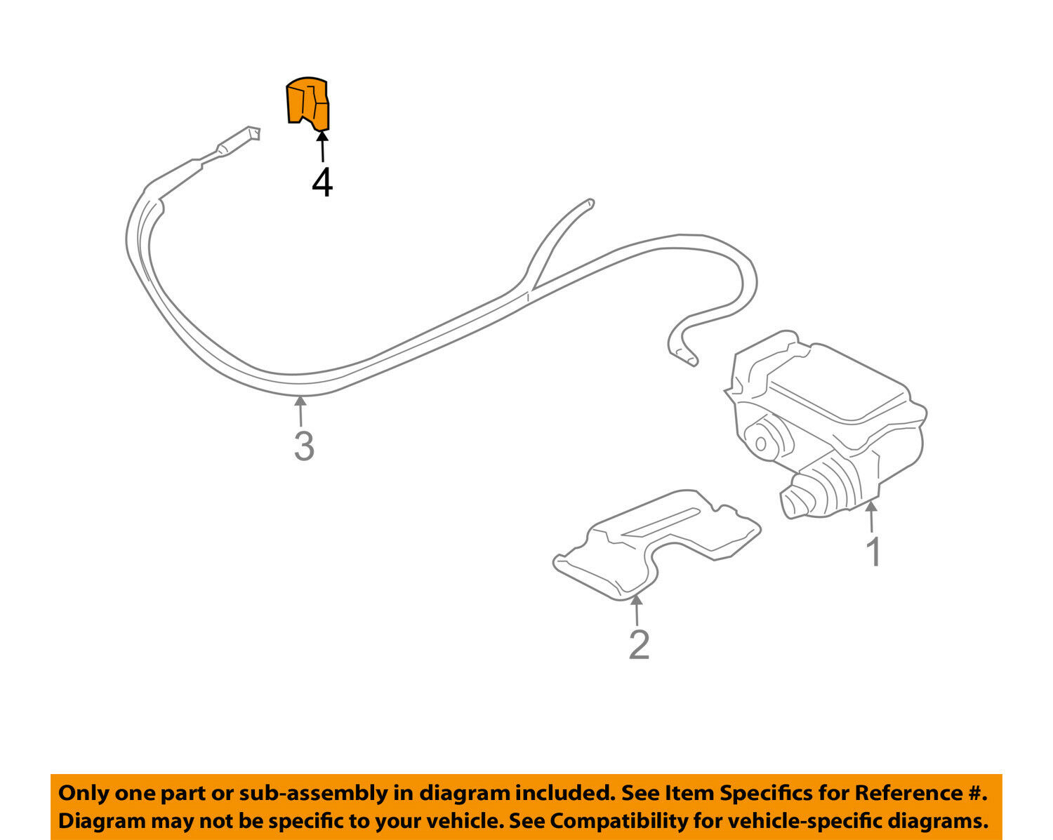 FORD OEM Cruise Control System-Actuator Cable Retainer Clip E1FZ9D726A 1 of  2Only 0 available ...