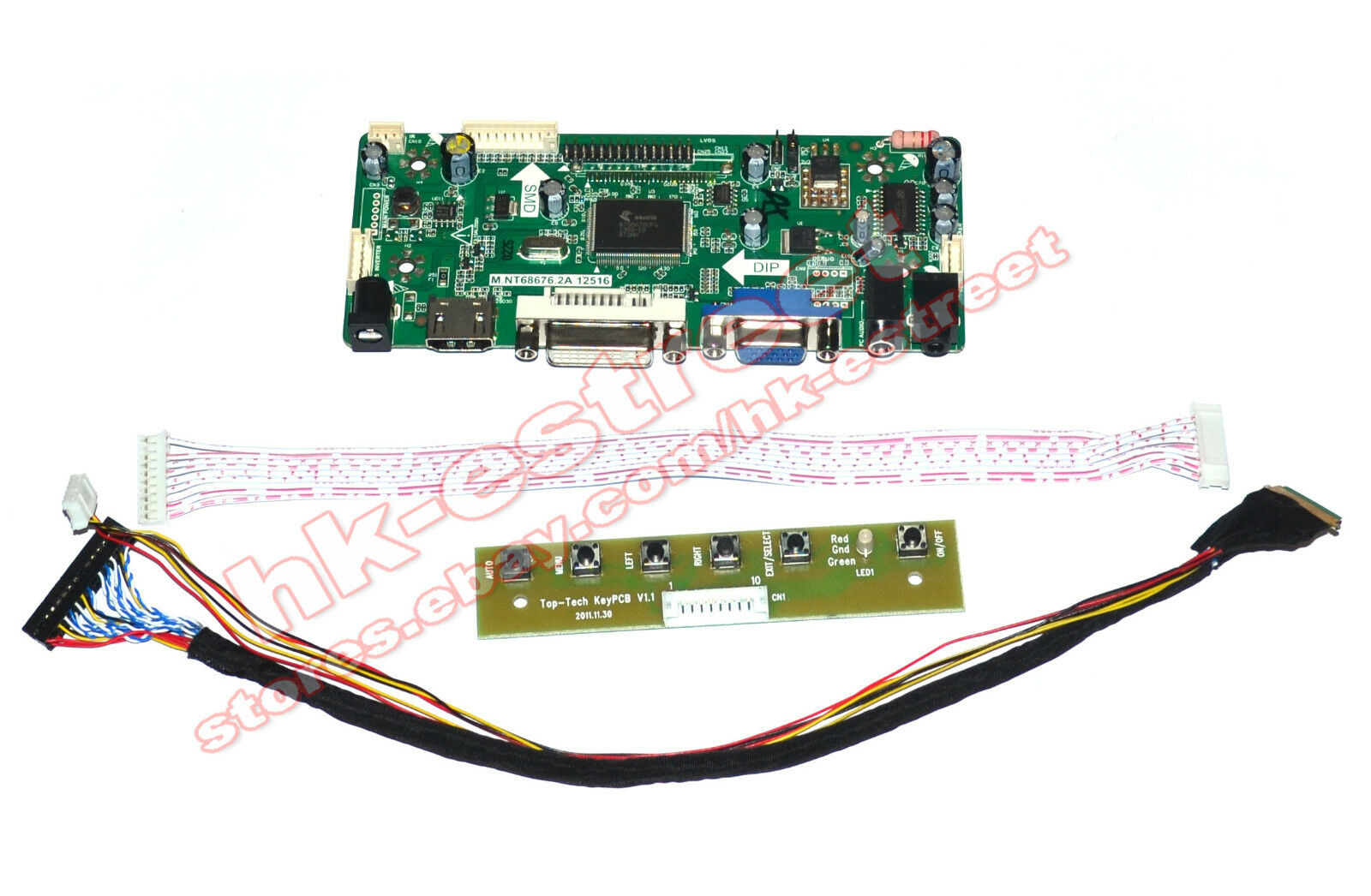Hdmi Dvi Vga Lcd Controller Board Driver For Ltn173kt01 1440 Breadboard Solder Finished Prototype Pcb Circuit Ebay 1 Of 7free Shipping