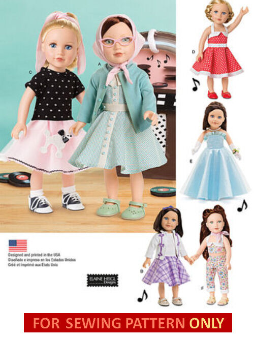 SEWING PATTERN! MAKE Doll Clothes! Fits American Girl Maryellen ...