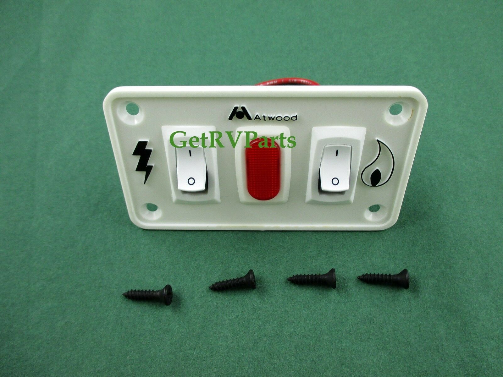 New Atwood Rv Water Heater 91230 Dual Switch Panel White 93865 Circuit Board 1 Of 2free Shipping