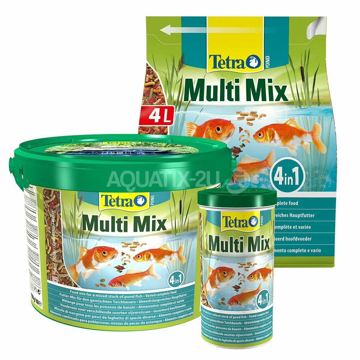 Tetra Pond Multi Mix Fish Food Complete Daily Diet Nutrients Koi Sticks Flakes