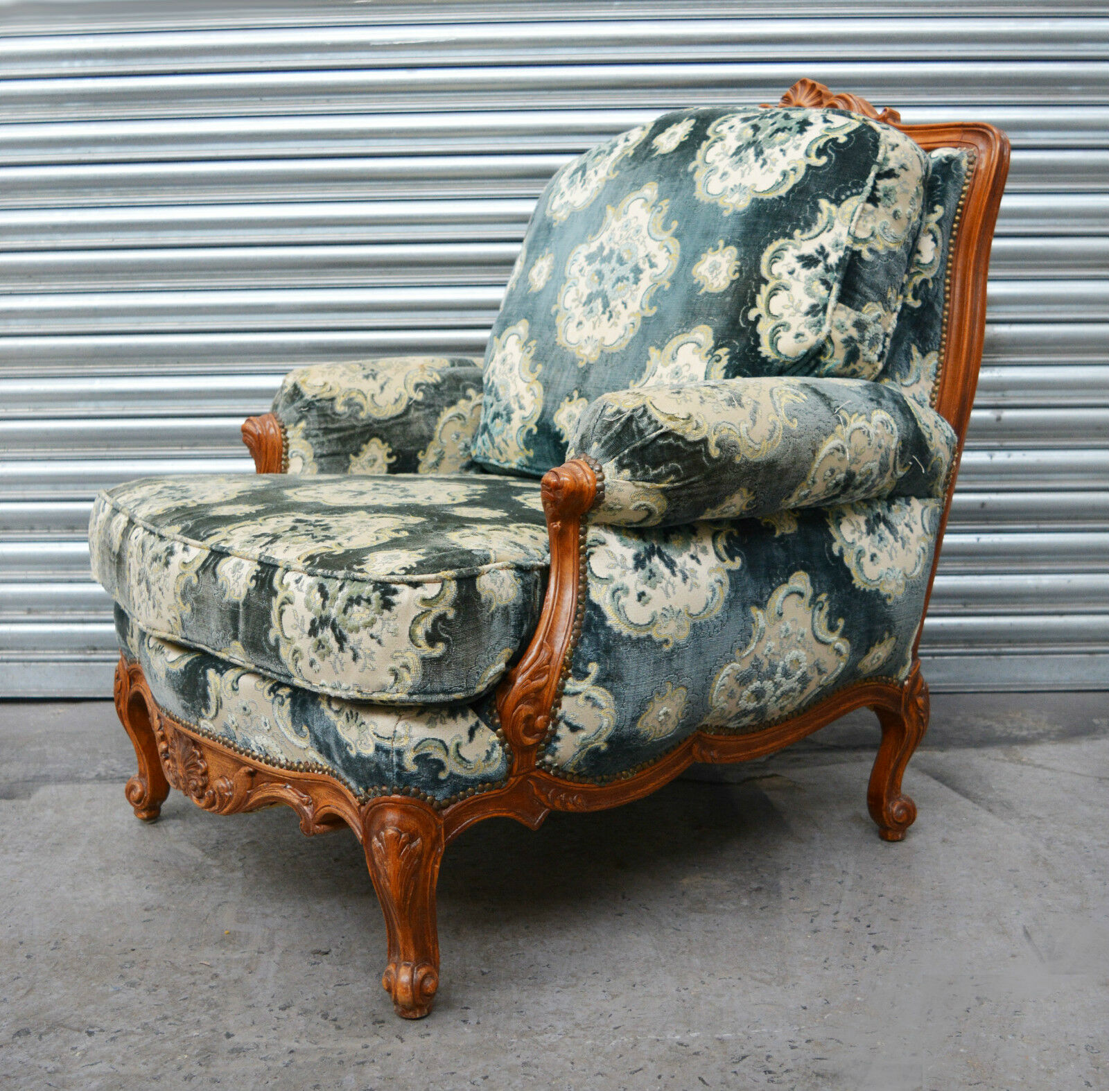 French Louis style Bergere decorative lounge chair / armchair