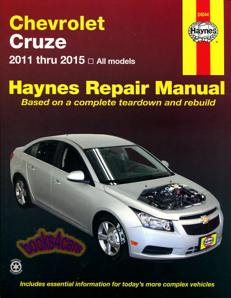 Shop Manual Cruze Service Repair Chevrolet Book Haynes Chilton 1 of 1FREE  Shipping ...