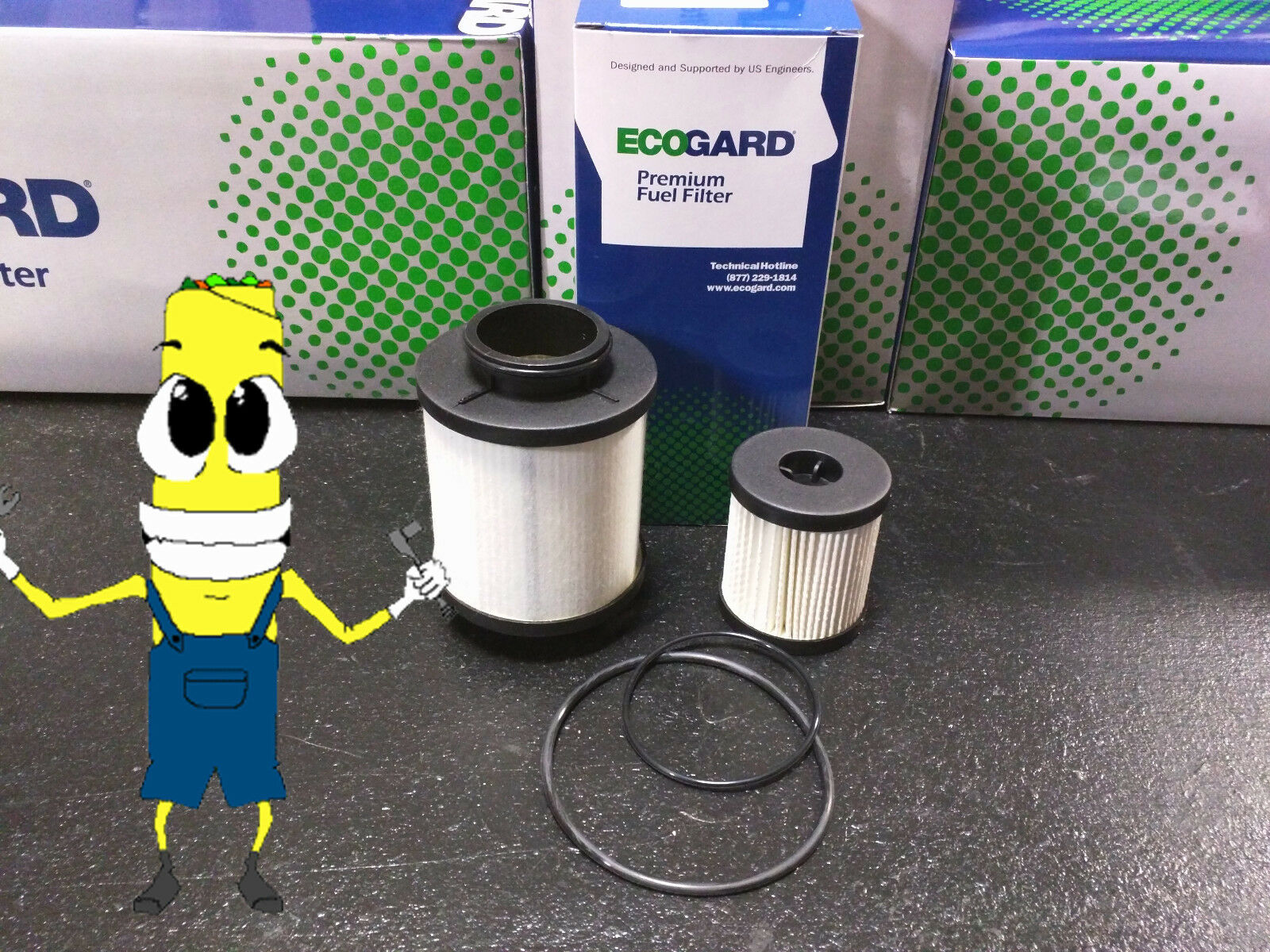 Premium Fuel Filter For Ford F 250 Superduty Powerstroke 60l Engine 6 0 Updated 2003 2007 1 Of 4free Shipping