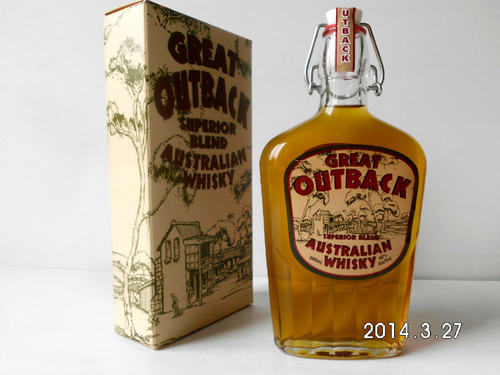 GREAT OUTBACK Rare Old Australian Superior Blend Whisky-Rare 500Ml Version!!