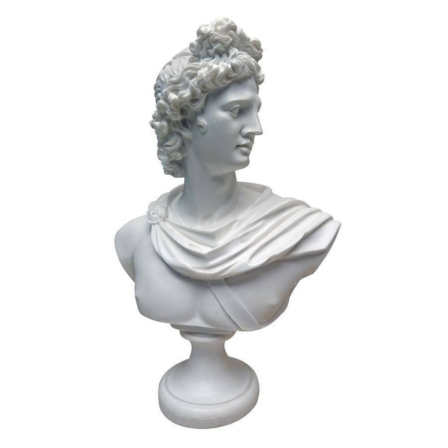 Ancient Greek Pithyian Appolo God Sculptural Bust Bonded Marble