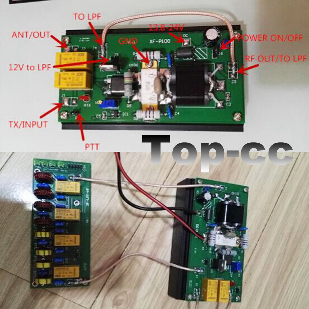 90w Hf Power Amplifier 100w 35mhz 30mhz Lpf For Ft 817 Ic 703 Kx3 300khz Linear 1 Of 5free Shipping