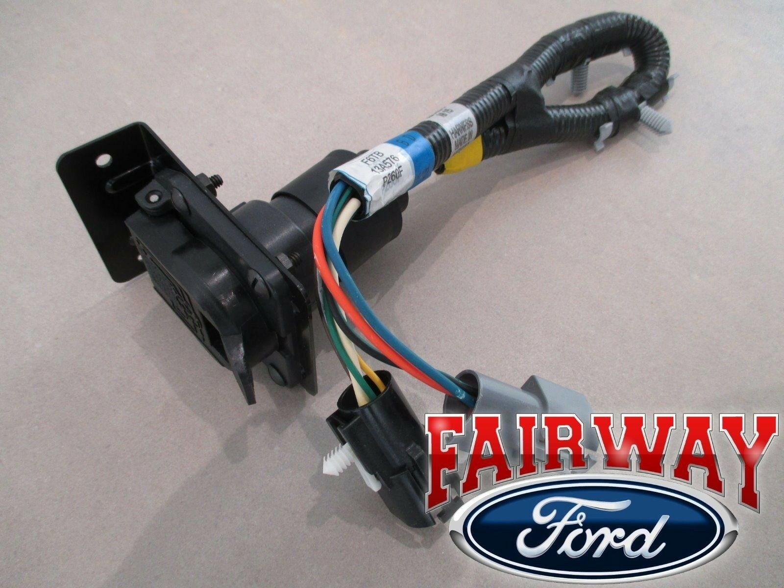 96 Bronco F 150 Oem Genuine Ford Parts Trailer Towing Wire Harness W Tow Wiring Plug 1 Of 6only 3 Available See More
