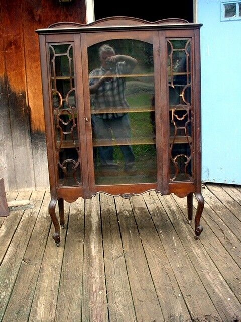 Antique Early 1900's Gettysburg Pa. China Cabinet Estate Furniture all Glass  1 of 9 Antique ... - ANTIQUE EARLY 1900'S Gettysburg Pa. China Cabinet Estate Furniture