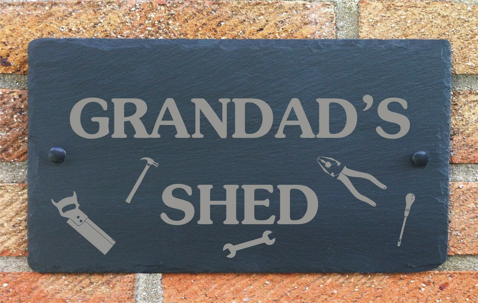 Personalised shed garage slate plaque sign gift for him for Plaque garage w