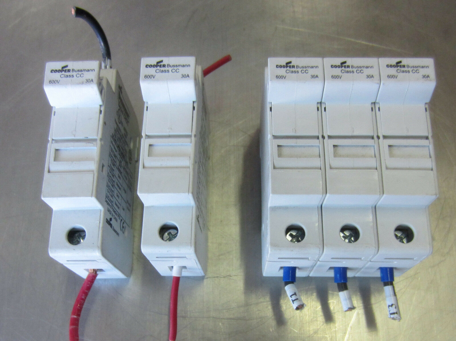 Cooper Bussmann Fuse Holder Chcc 30a 30 Amp 600v Used Mixed Lot Of 3 Buss Box 1 12only Available