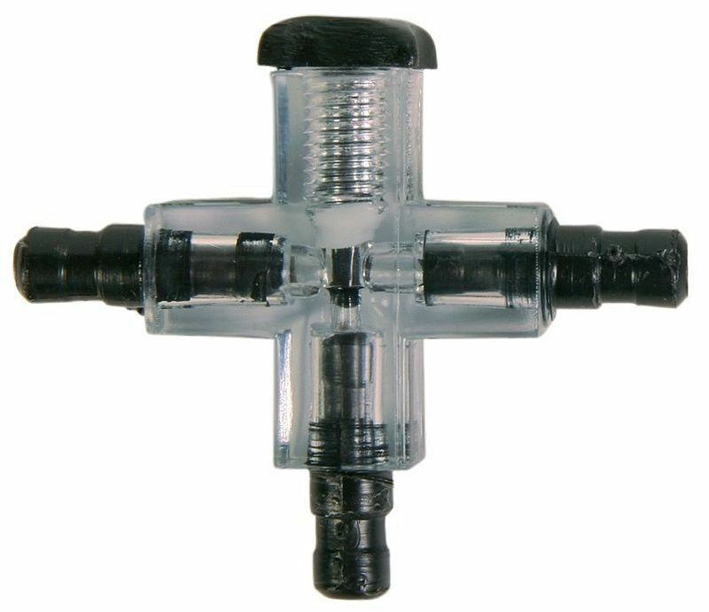 Aquarium Airline Cross Connector with Adjustable Outlet Air Flow Valve