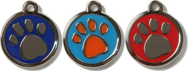 Pet Tag Dog Cat ID Laser Engraved - Bow Wow