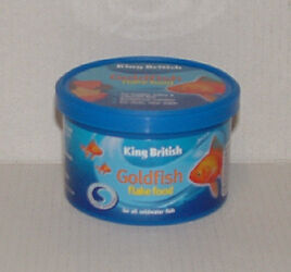 King British poisson rouge nourriture flocon 12G Aquarium Poisson