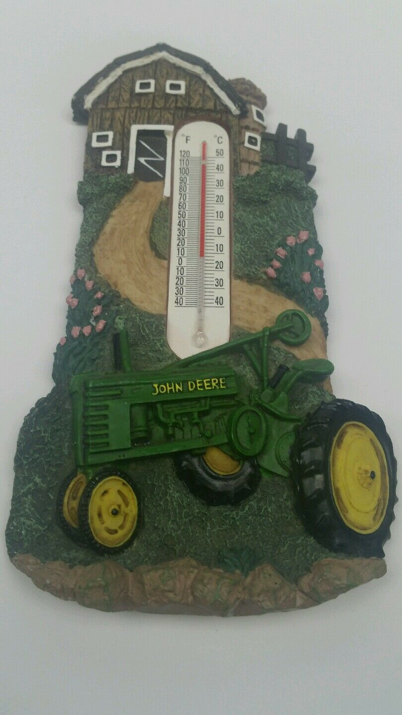 John Deere House : John deere thermometer farm house green tractor