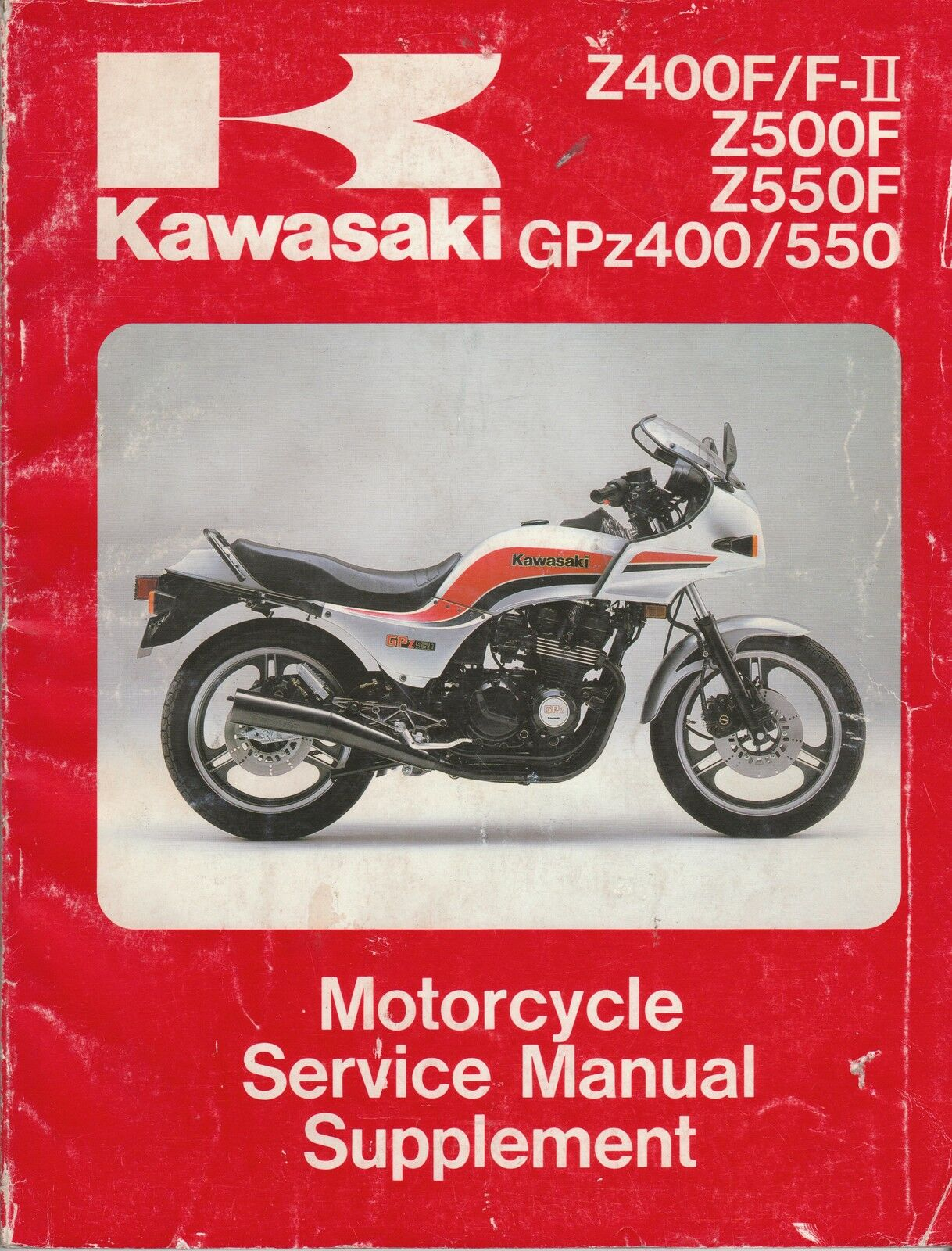 Kawasaki Z400F/F-2, Z500F, Z550F, GPz400/500 Service Manual 1 of 2Only 1  available See More