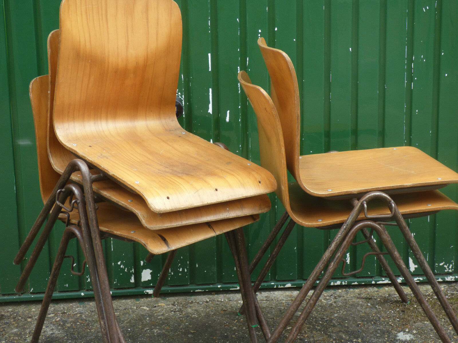 Stackable Vintage School Chairs