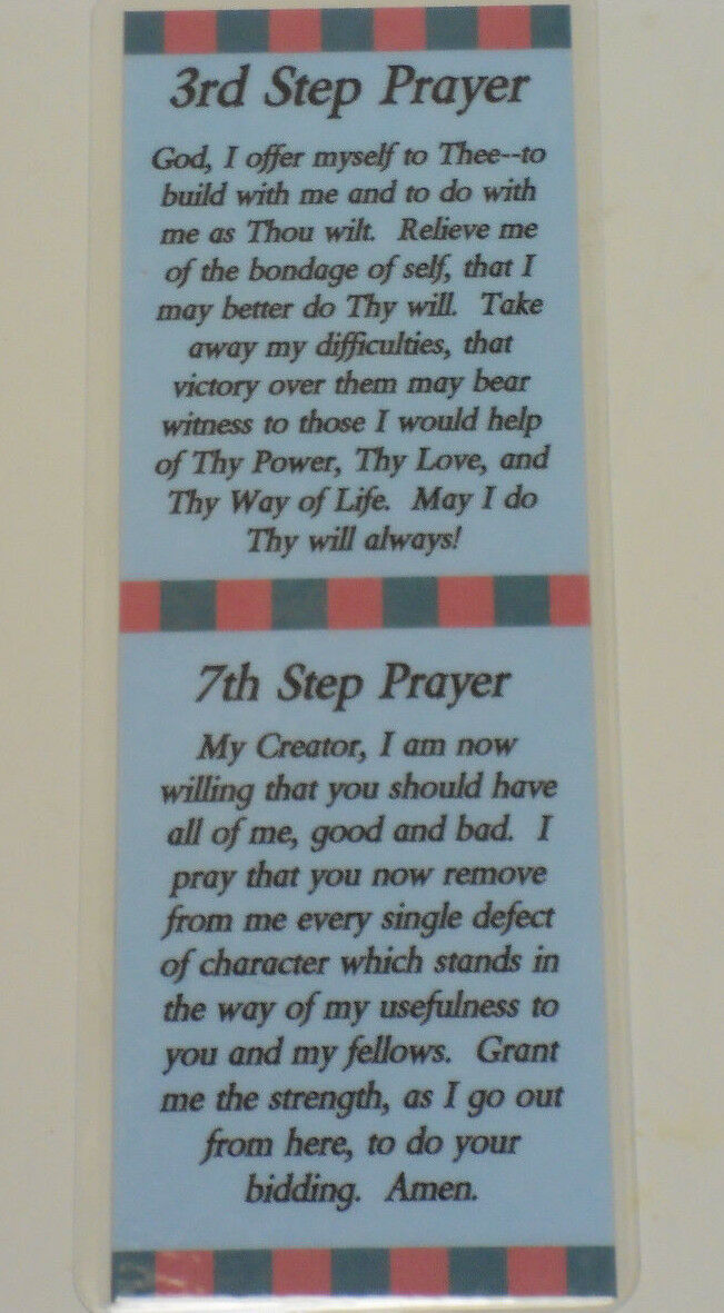 3ed and 7th step prayer bookmark sobriety 1 75 picclick