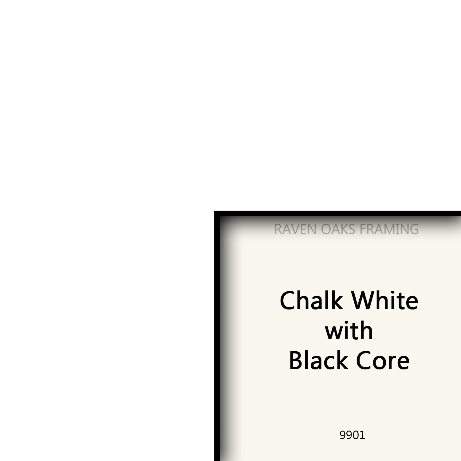 WHITE W/ BLACK CORE - Conservation Matboard-Custom Cut Opening ...
